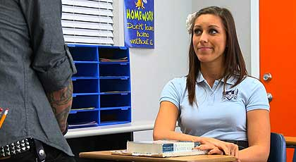 Adorable coed with nice tits Emma Cummings fucks her teacher in class  210570