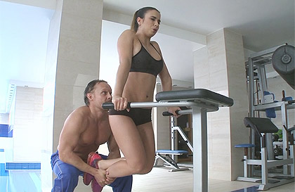 Crossfit anal trainer and anal creampie