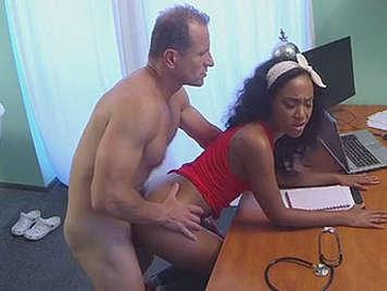 Doctor fucks her black patient in consultation hidden camera