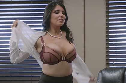 Intense sex with the secretary more bitch of the office
