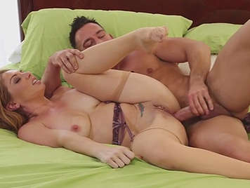 Anal sex with a mature busty housewife