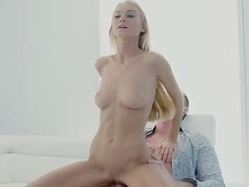 Teen blonde with small natural tits