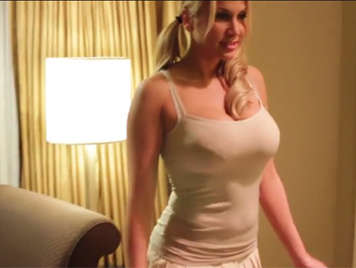 Night of passion with busty blonde prostitute