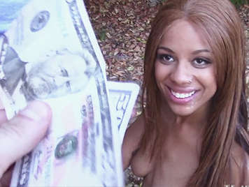 Black teen sucking a cock for money gets fucked like a bitch on all fours and swallows a cumshot That fills her mouth