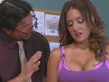 Teacher fucking a hot student with big tits