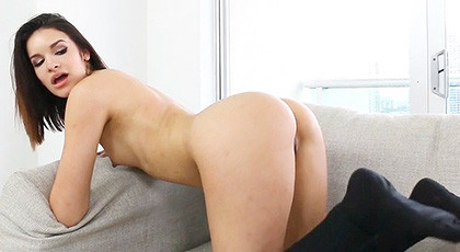 The perfect ass of a young brunette Eden Sinclair