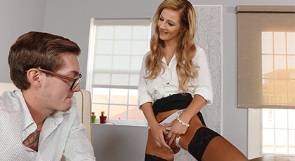 Bella Rose gets Caught at the Office Being Naughty