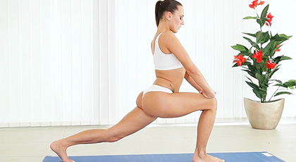 Mea Melone and her fucking with yoga poses