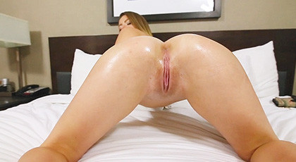 Sex pov with the shaved young Alex Blake