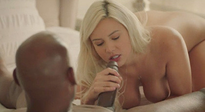 Kylie Page fulfilling her desire to be penetrated by a black man with a big cock