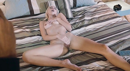 Eliza Jane surprised by a thief while masturbating