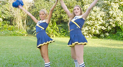 Selena Sosa and Amber Gray two lesbian cheerleaders