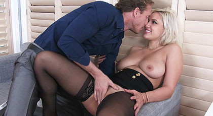 Sex day with my busty secretary, Kylie Page