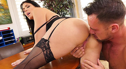 Reagan Foxx, the boss wanted to fuck her married employee