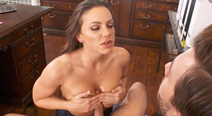 First day of sex with my secretary Abigail Mac