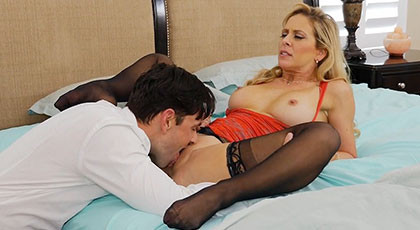 Fucking with the best mature friend of his wife