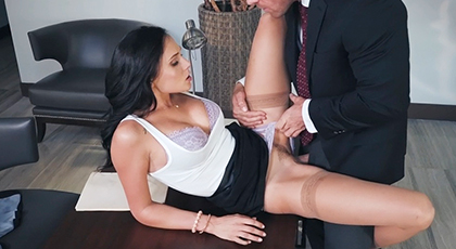 Fucking with his boss's wife