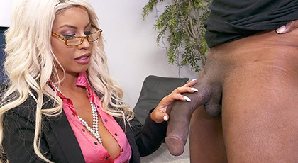 The boss of the company loves huge black cocks