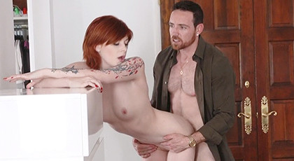 Pleasure with a redhead girl