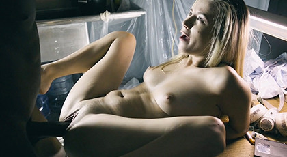 Big black cock for a very excited blonde