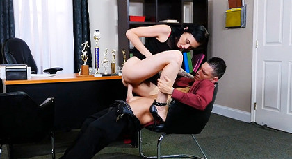 Hard sex in the office with the young secretary