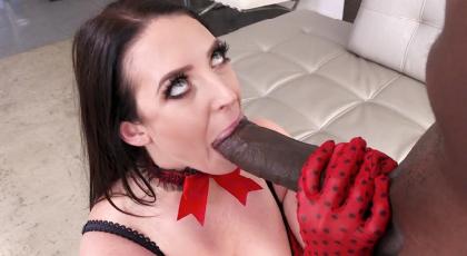 Brunette adores huge cocks