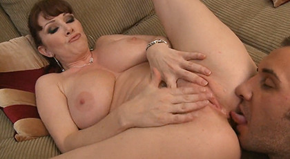 Vicious mature mother with the cock of a friend of her son