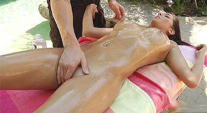Massage in the garden with Megan