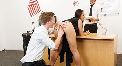 A very hot porn threesome with the secretary