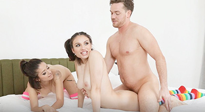 Threesome with two hot college girls