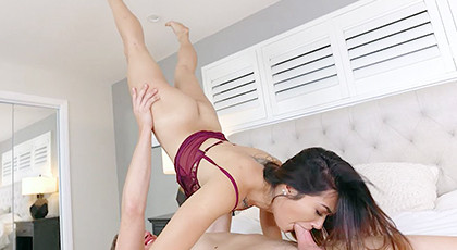 Acrobatic porn with young neighbor