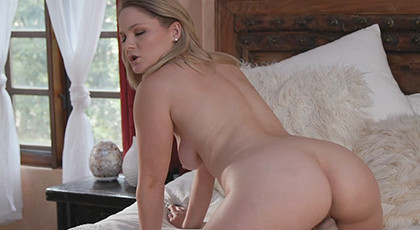 Hard sex with a blonde with big ass