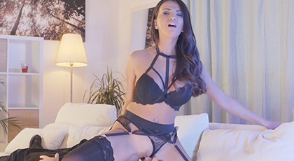 Sensual night with her best erotic lingerie