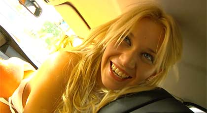 Blonde sodomized in the car!