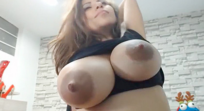 Amateur videos, huge lactating tits