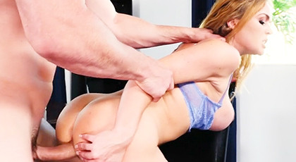 Fucking hard with his wife in the office
