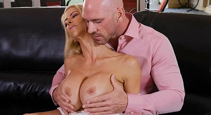 The boss\'s wife is a very vicious mature woman with big tits