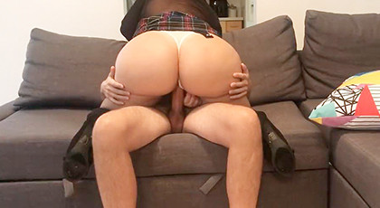 Amateur videos, his girlfriend\'s big ass