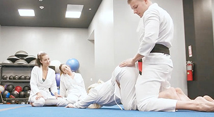 Quartet with the judo teacher