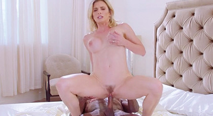 The blonde always wanted a black cock in her pussy