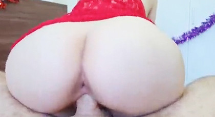 Amateur videos, sweet fucked at Christmas