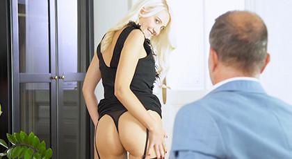Big seductive blonde