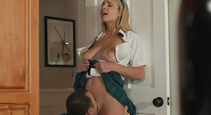 Sex with a schoolgirl with nice tits
