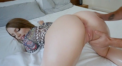 Big White Ass And Pink Shaved Pussy