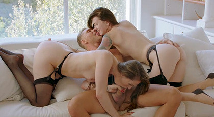 Tori Black and Misha Cross two porn queens fucking with Nacho