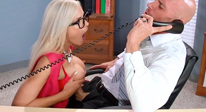 My secretary\'s tits when we fuck in the office