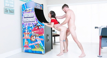 Sex with her sister\'s friend in the games room at home