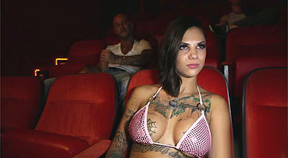 Bonnie Rotten goes to movies