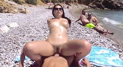 Public sex on the beach