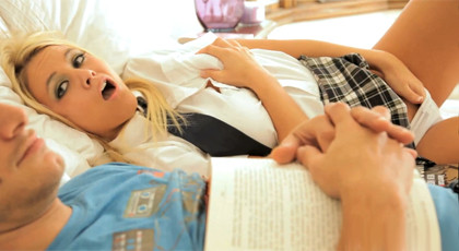 Schoolgirl enjoys his tutor